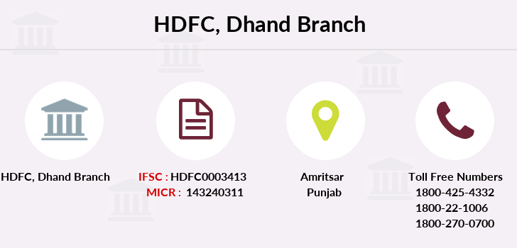 Hdfc-bank Dhand branch