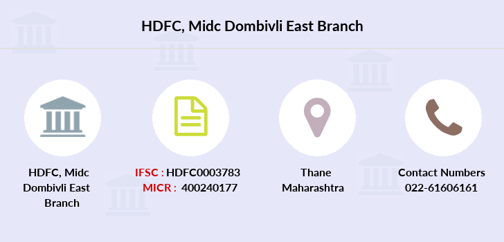 Hdfc-bank Midc-dombivli-east branch