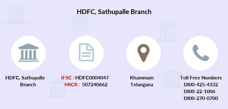 Hdfc-bank Sathupalle branch