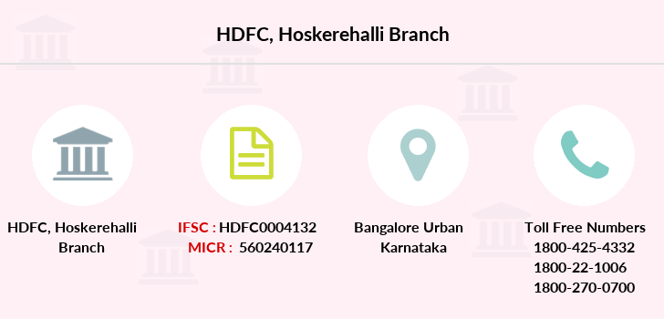 Hdfc-bank Hoskerehalli branch