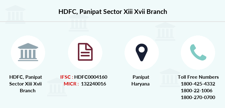 Hdfc-bank Panipat-sector-xiii-xvii branch
