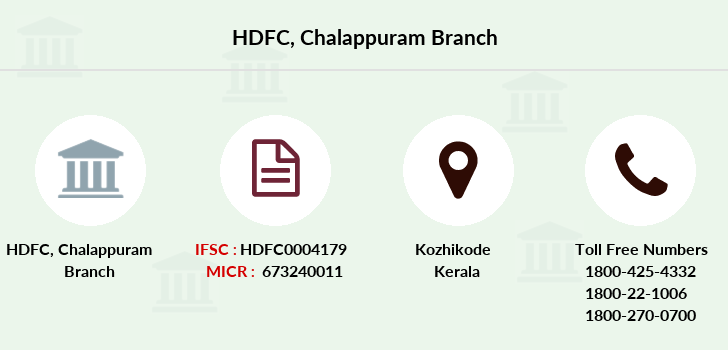Hdfc-bank Chalappuram branch