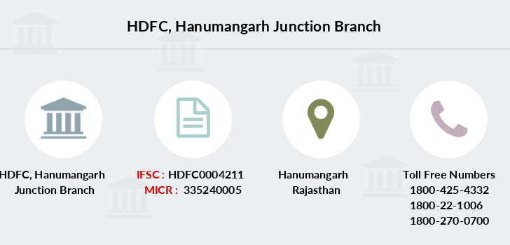 Hdfc-bank Hanumangarh-junction branch