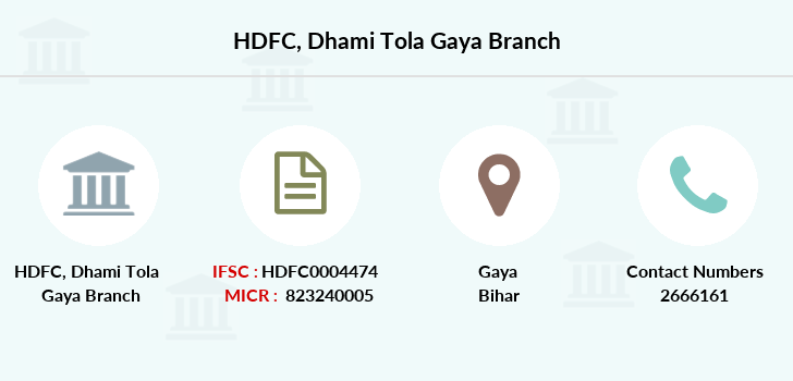 Hdfc-bank Dhami-tola-gaya branch