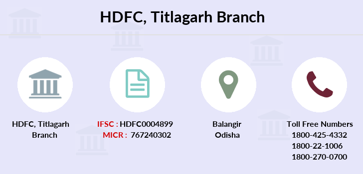 Hdfc-bank Titlagarh branch