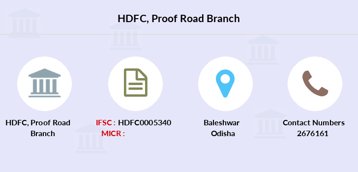 Hdfc-bank Proof-road branch