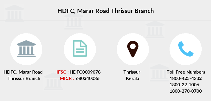 Hdfc-bank Marar-road-thrissur branch