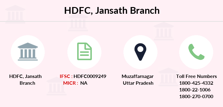 Hdfc-bank Jansath branch