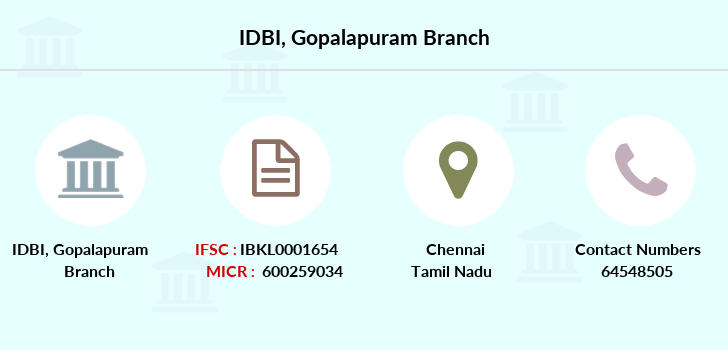Idbi-bank Gopalapuram branch