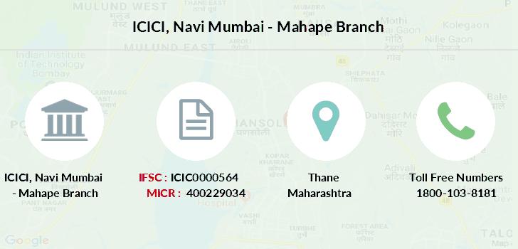 ICICI Navi Mumbai - Mahape IFSC Code ICIC0000564
