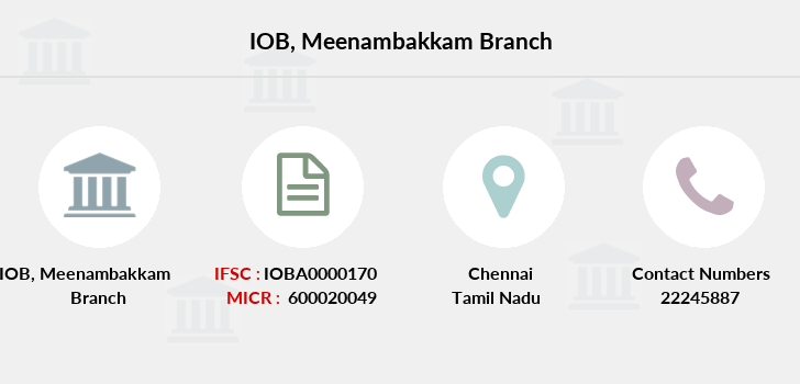 Indian-overseas-bank Meenambakkam branch