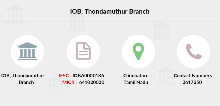 Indian-overseas-bank Thondamuthur branch