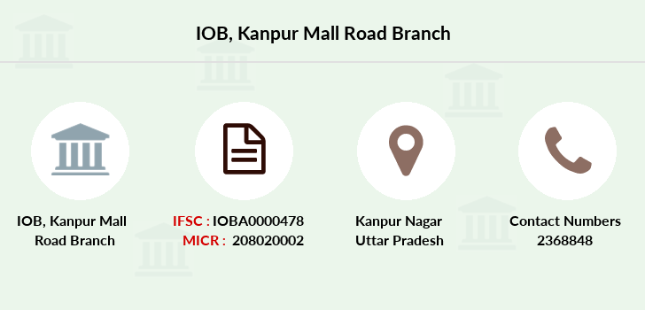 Indian-overseas-bank Kanpur-mall-road branch