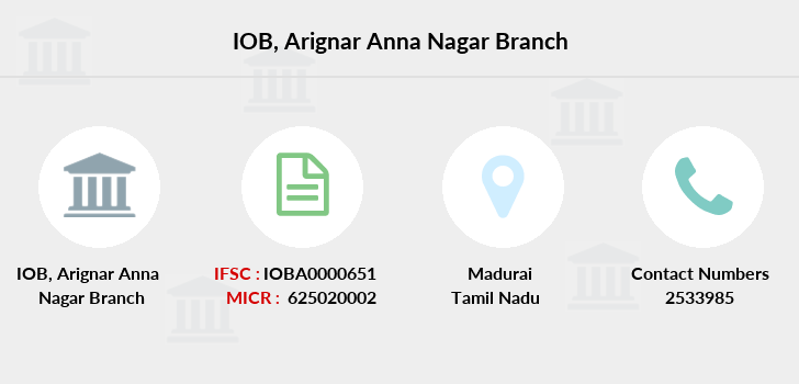 Indian-overseas-bank Arignar-anna-nagar branch