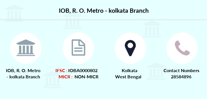 Indian-overseas-bank R-o-metro-kolkata branch