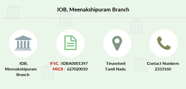 Indian-overseas-bank Meenakshipuram branch