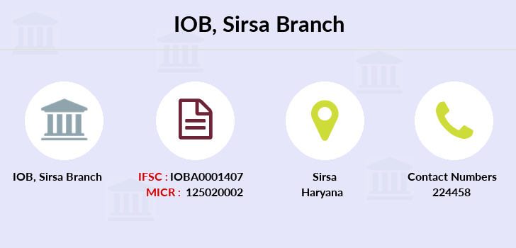 Indian-overseas-bank Sirsa branch
