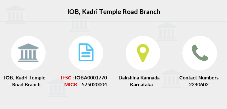 Indian-overseas-bank Kadri-temple-road branch