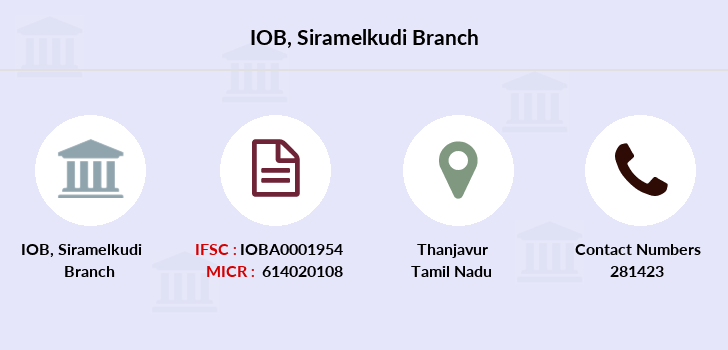 Indian-overseas-bank Siramelkudi branch