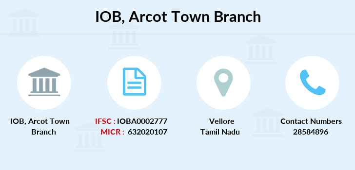 Indian-overseas-bank Arcot-town branch