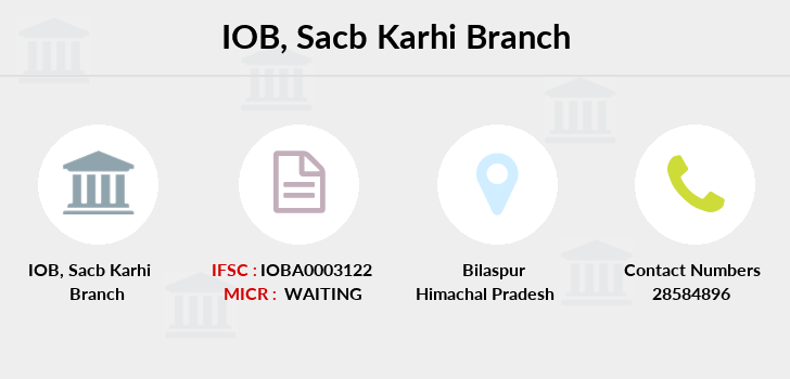 Indian-overseas-bank Sacb-karhi branch