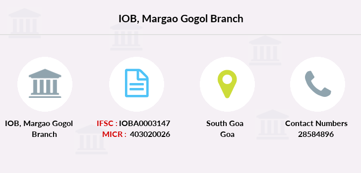 Indian-overseas-bank Margao-gogol branch