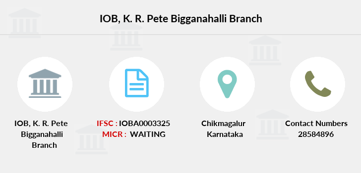 Indian-overseas-bank K-r-pete-bigganahalli branch
