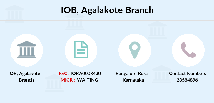 Indian-overseas-bank Agalakote branch