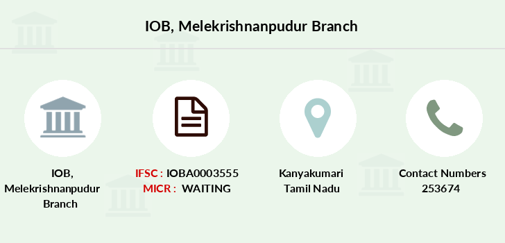 Indian-overseas-bank Melekrishnanpudur branch
