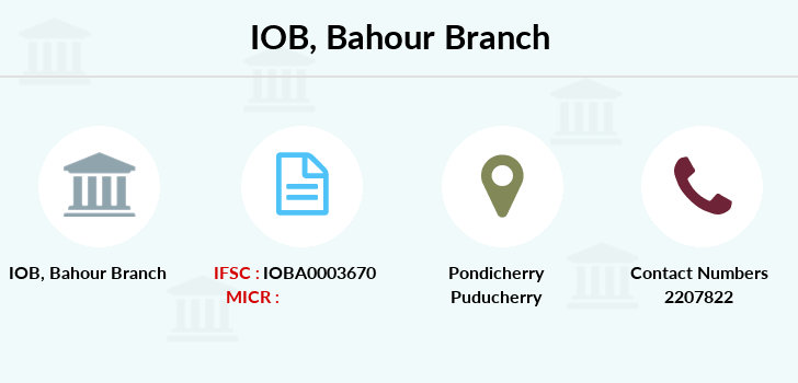 Indian-overseas-bank Bahour branch