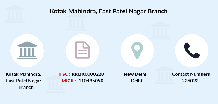 Kotak-mahindra-bank East-patel-nagar branch