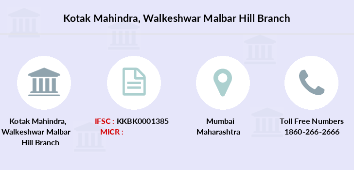 Kotak-mahindra-bank Walkeshwar-malbar-hill branch