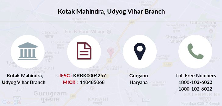 Kotak-mahindra-bank Udyog-vihar-gurgaon branch