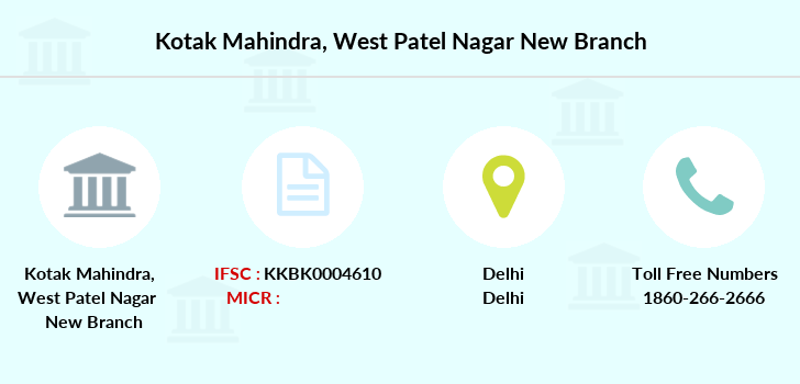Kotak-mahindra-bank West-patel-nagar-new branch