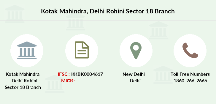 Kotak-mahindra-bank Delhi-rohini-sector-18 branch