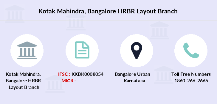Kotak-mahindra-bank Bangalore-hrbr-layout branch