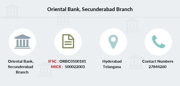 Oriental-bank-of-commerce Secunderabad branch