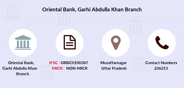 Oriental-bank-of-commerce Garhi-abdulla-khan branch