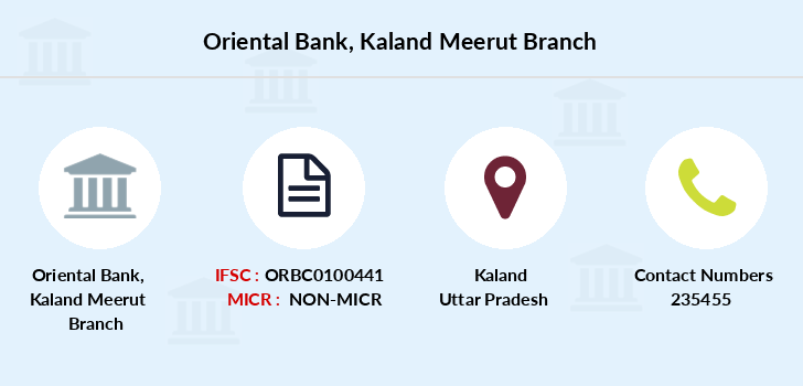 Oriental-bank-of-commerce Kaland-meerut branch