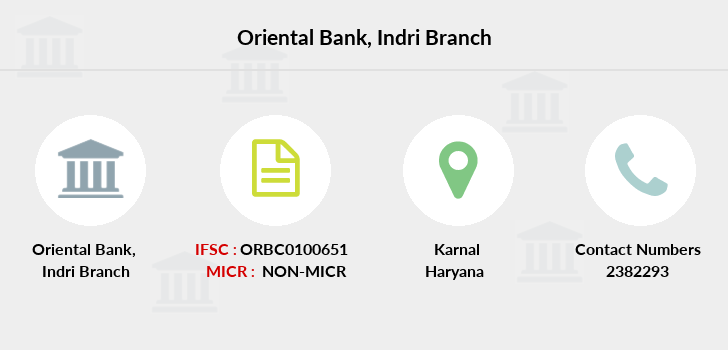 Oriental-bank-of-commerce Indri branch