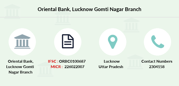 Oriental-bank-of-commerce Lucknow-gomti-nagar branch