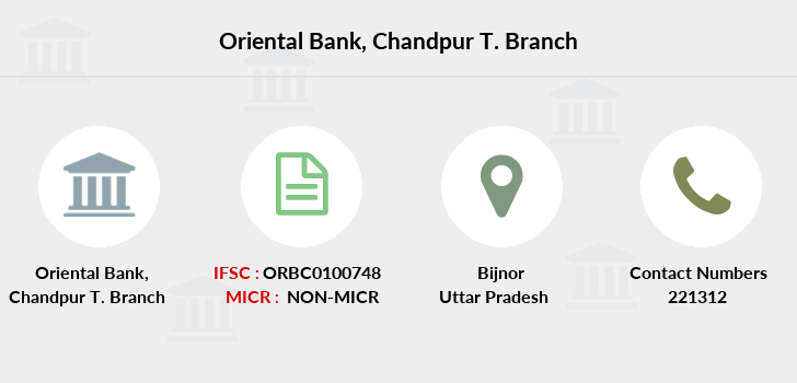 Oriental-bank-of-commerce Chandpur-district-bijnor branch