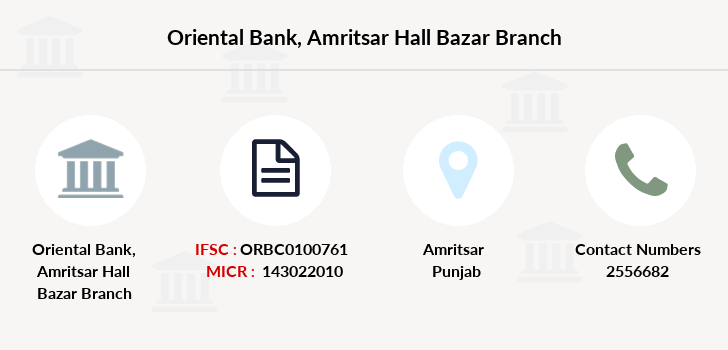 Oriental-bank-of-commerce Amritsar-hall-bazar branch