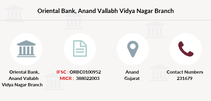 Oriental-bank-of-commerce Anand-vallabh-vidya-nagar branch