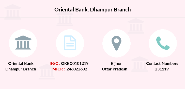 Oriental-bank-of-commerce Dhampur branch