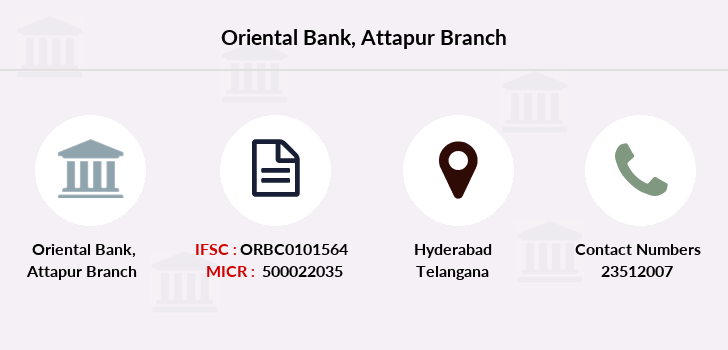 Oriental-bank-of-commerce Attapur branch