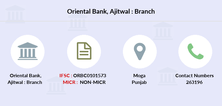 Oriental-bank-of-commerce Ajitwal branch