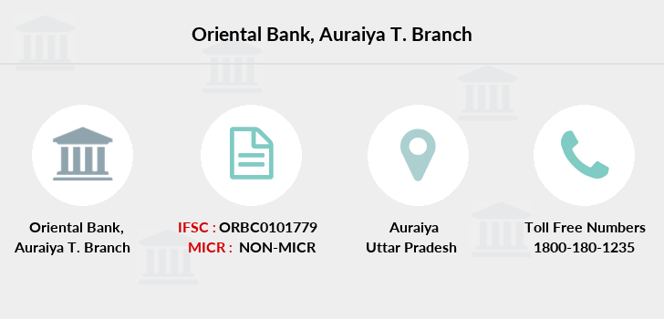 Oriental-bank-of-commerce Auraiya-district-auraiya branch