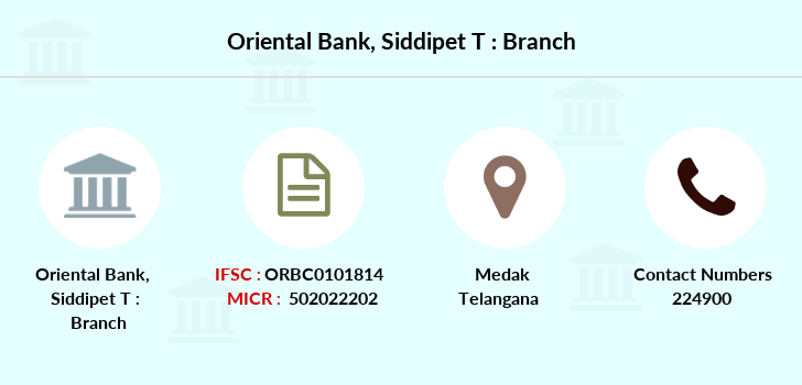 Oriental-bank-of-commerce Siddipet-t branch
