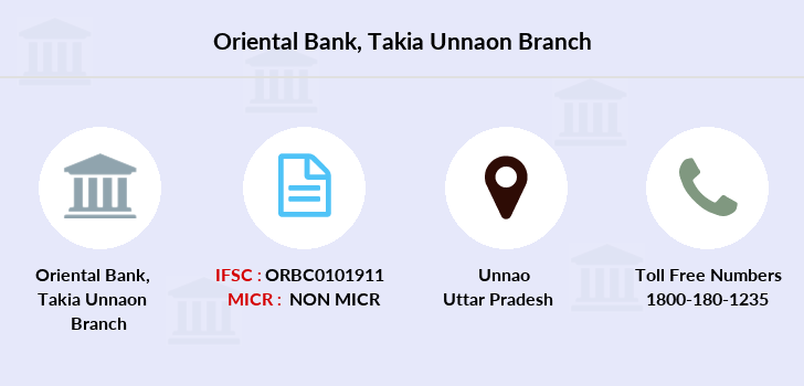 Oriental-bank-of-commerce Takia-unnaon branch